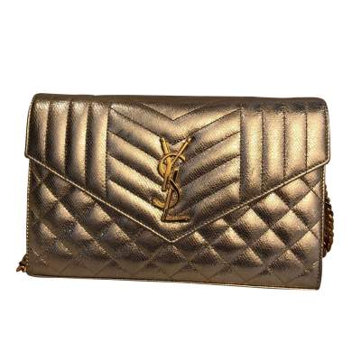 Golden small leather Bag-0