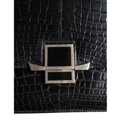 Vintage black alligator Bag -7