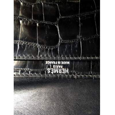Vintage black alligator Bag -9