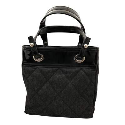 Charcoal gray shopping Bag-3