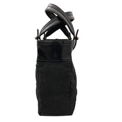 Charcoal gray shopping Bag-5
