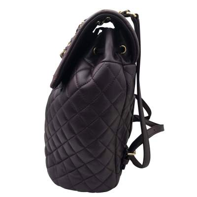 Quilted leather Backpack-3
