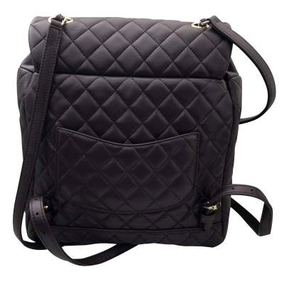 Quilted leather Backpack-5