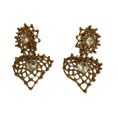 Vintage clip-on Earrings-1