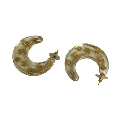 Vintage plexiglass Earrings-3