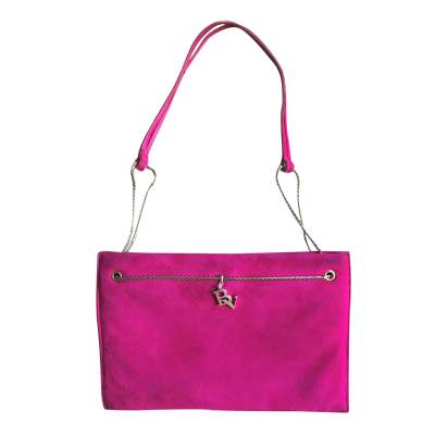 Purple suede Bag-0