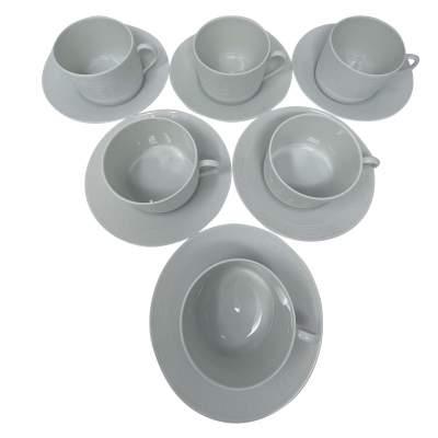 Set of 6 Egée Breakfast Cups & Saucer-0