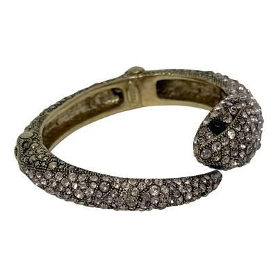 Gold Swarovski Crystal Snake Bracelet-9