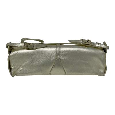 Cosmo Metallic Handbag leather Baguette -3