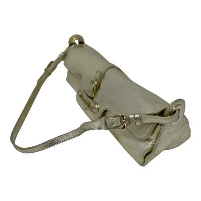 Cosmo Metallic Handbag leather Baguette -5