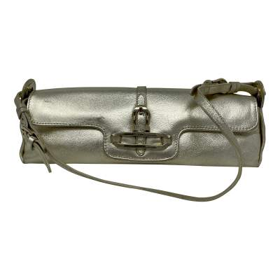 Cosmo Metallic Handbag leather Baguette -1