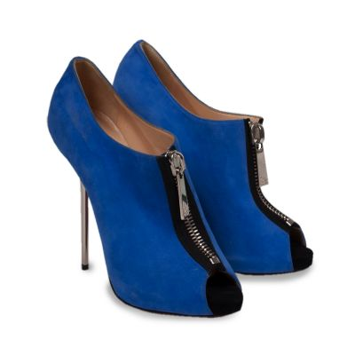 Suede peep toe Pumps-0