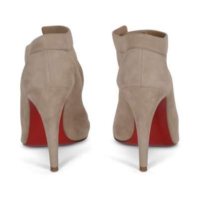 Suede open toe Shoes-3