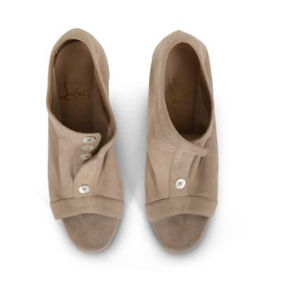 Suede open toe Shoes-9