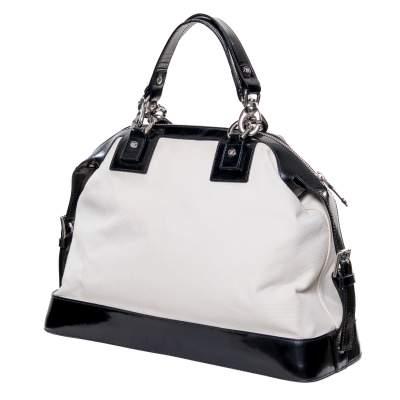 Leather & canvas Handbag -3