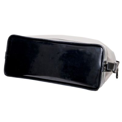 Leather & canvas Handbag -5