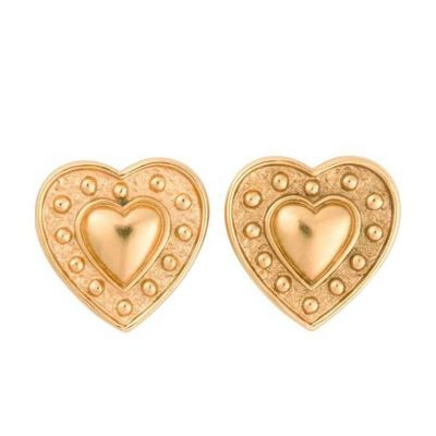 Vintage Heart Earrings-0