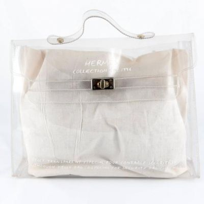 2a8e43cdbd3 Hermes 1996s Collector Transparent Plastic Bag-Shaped Kelly | The ...