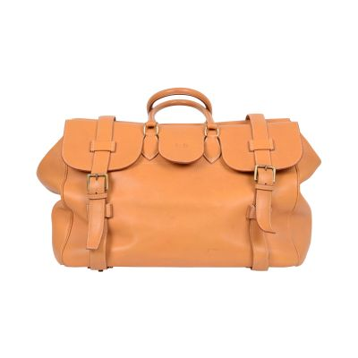 "Vintage Leather gold ""Drag"" travel Bag -0"