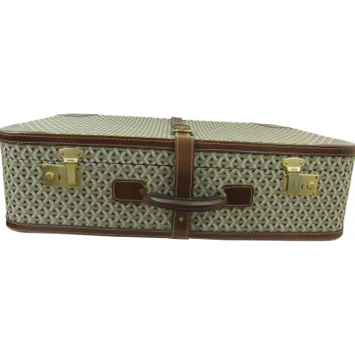 Vintage Suitcase in Canvas Form The 60's-0