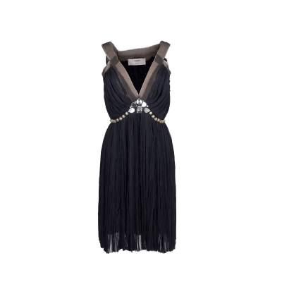 Silk Beaded Dress-0