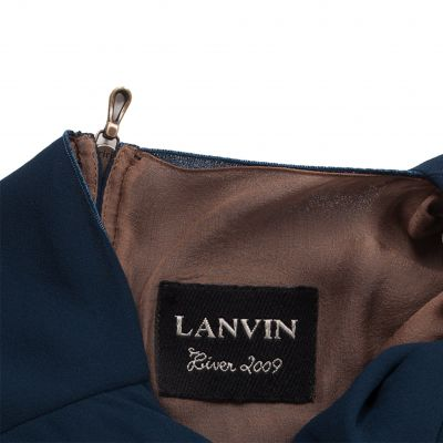 Pleated Neckline Knee-Lenght Dress-5
