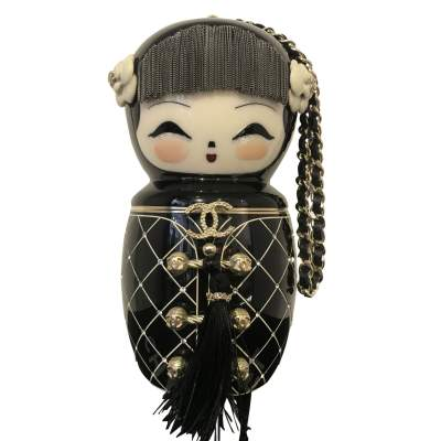 Chanel Enamel Doll Clutch - -0