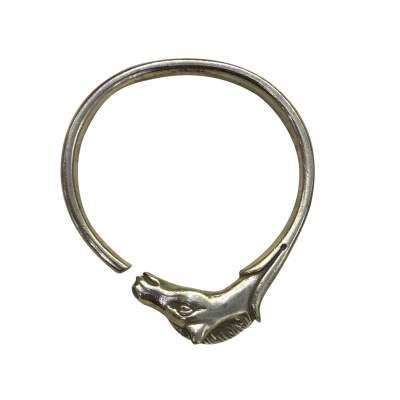 Vintage Sterling Silver Horse Bracelet -0