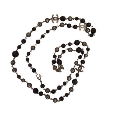 Black pearl Necklace and Bracelet-0