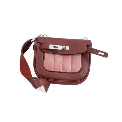 Berline Bag in burgundy swift Leather-3