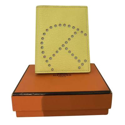 Light Yellow  Leather Cardholder-0