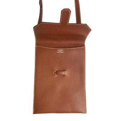 Camel Vintage Cross-Body Leather Pouch-5