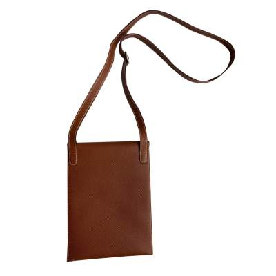 Camel Vintage Cross-Body Leather Pouch-3