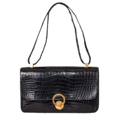 Vintage Crocodile Handbag-1
