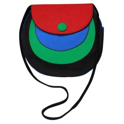 Vintage blue, red, green and black Bag-0