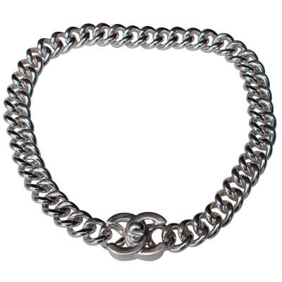 Vintage silver plated choker, 1995 Fall Collection-0