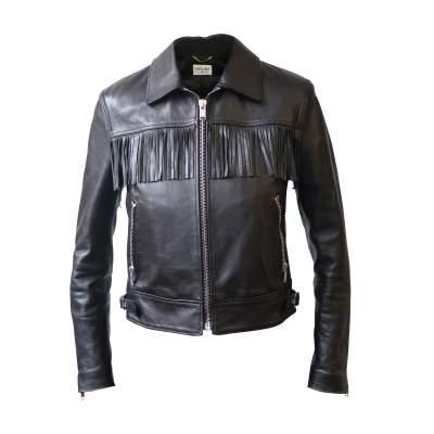 Leather Fringe Jacket-0