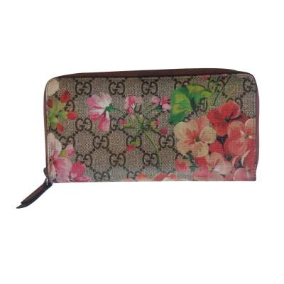 Monogram Floral Zip Wallet-0