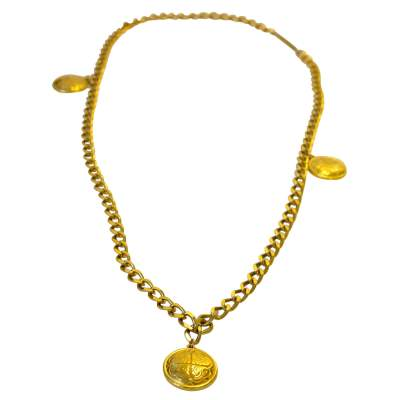 Vintage necklace in gold metal-0