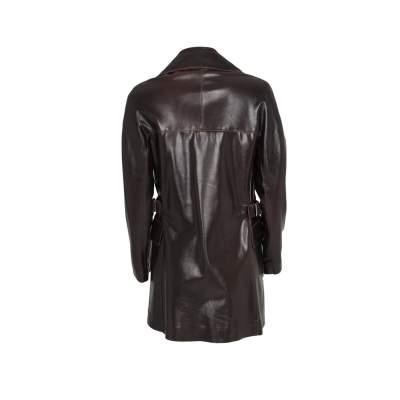 Long leather jacket Coat -3