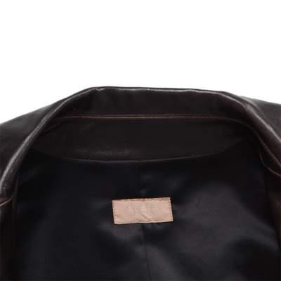 Long leather jacket Coat -5