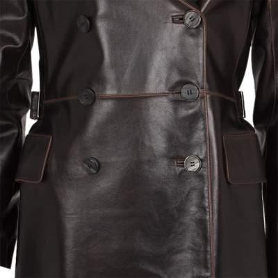 Long leather jacket Coat -7