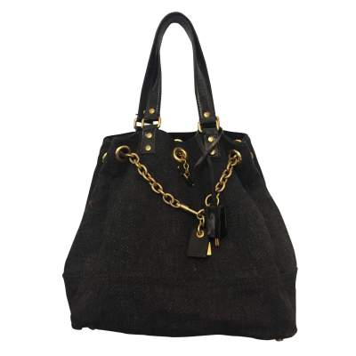 Wool and patent leather Bag -1