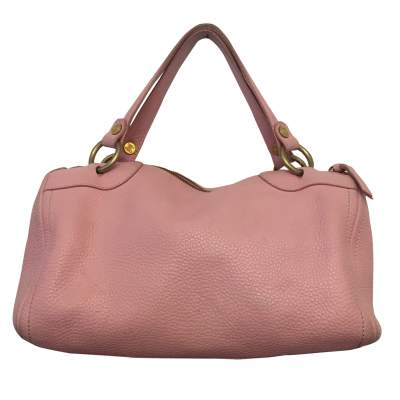 Pink leather hand bag-3