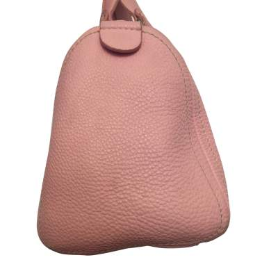 Pink leather hand bag-5
