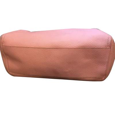 Pink leather hand bag-9