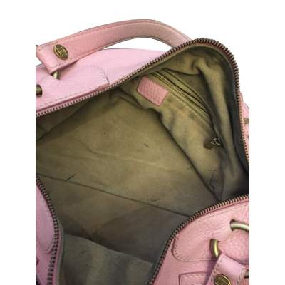Pink leather hand bag-11
