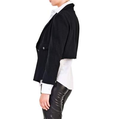 Different length wool Jacket -9