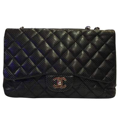 Timeless perforated quilted leather Bag-1