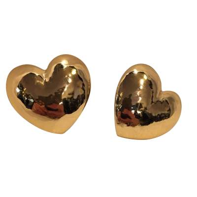 Beautiful heart shaped Clip-on earrings-0